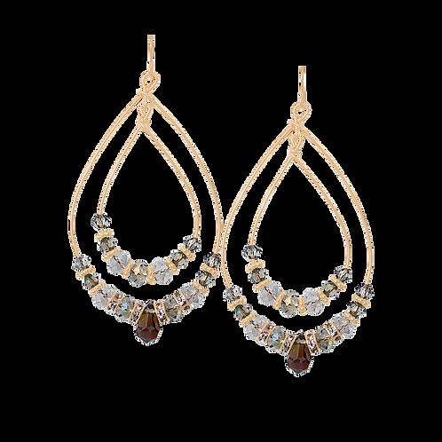 PRIMROSE - Black Diamond/Gold Filled Earrings
