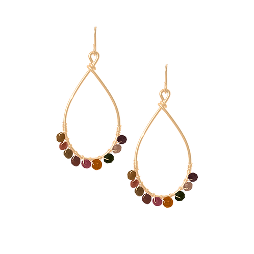 TEMPEST - Tourmaline/Gold Filled Earrings