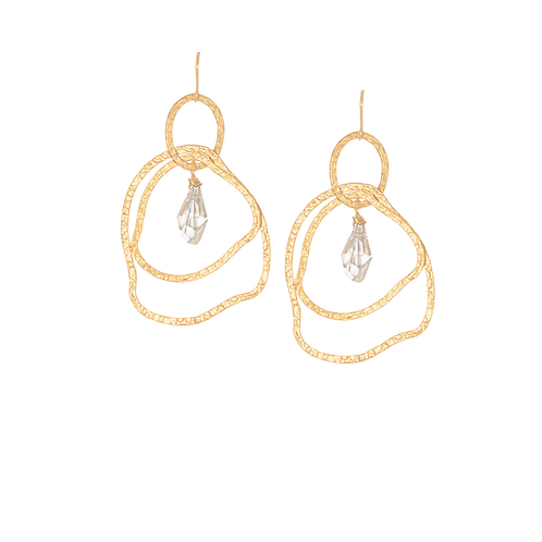 VIOLETTA - Crystal/Gold Filled Earrings