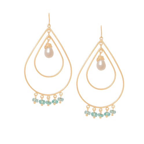 RILEY - Blue Apatite/Gold Filled Earrings