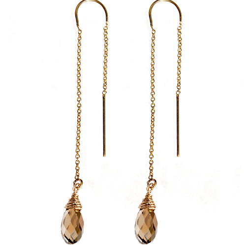 IVETTE - Swarovski Bronzed Shade/GF Earrings
