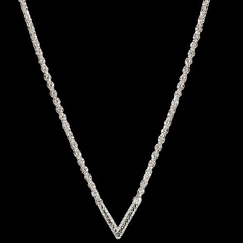 PEYTON- Swarovski Crystal 'V'/Sterling Necklace