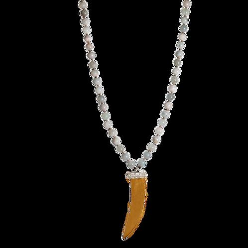 HADLEY- Aquamarine/Wood Necklace
