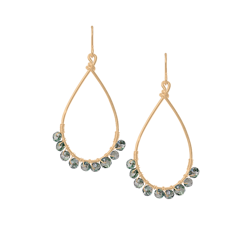 TEMPEST - Green Quartz/Gold Filled Earrings
