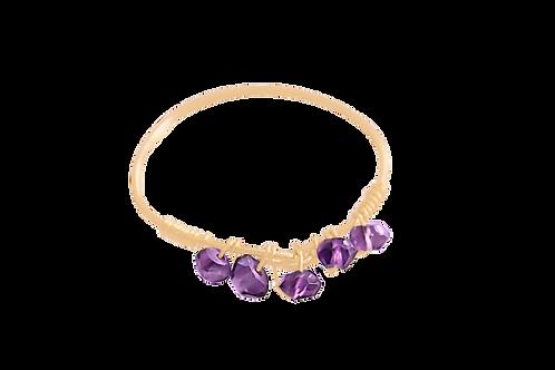 MISHA - Amethyst/Gold Filled Ring