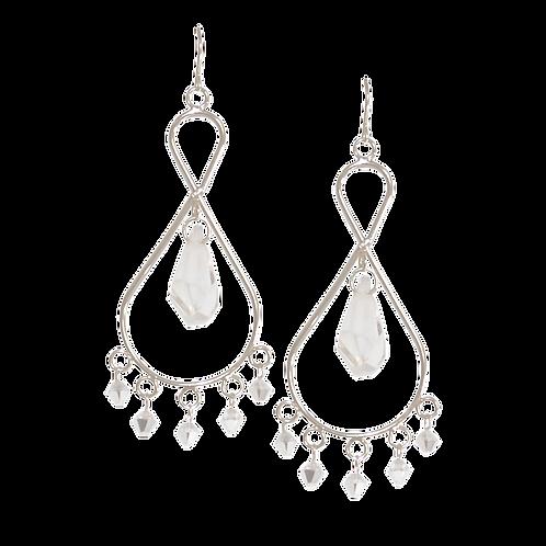 AMELIA- Crystal/Sterling Silver Earrings