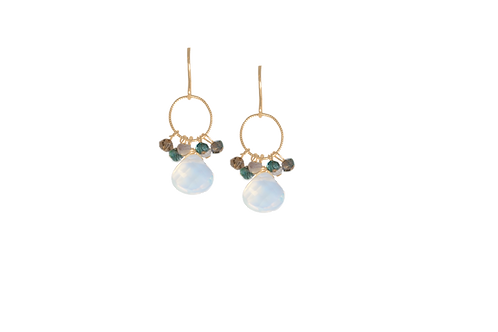 ARIA- Opalite/Gold Filled Earrings