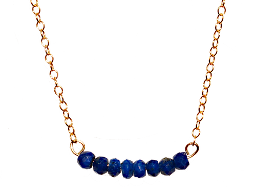 LYNZIE - Lapis/Gold Filled Necklace