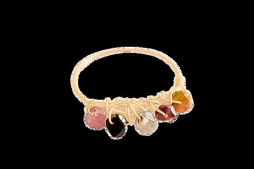 MISHA - Tourmaline/Gold Filled Ring