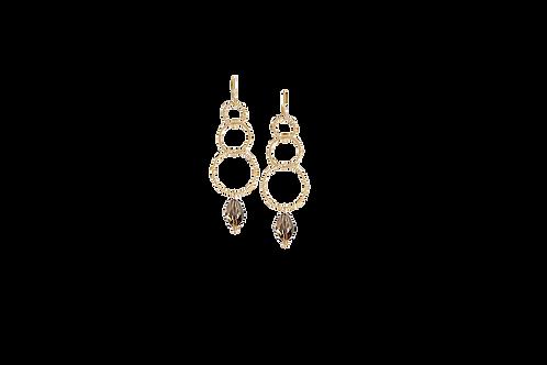 NYLA- Swarovski Golden Shadow Earrings