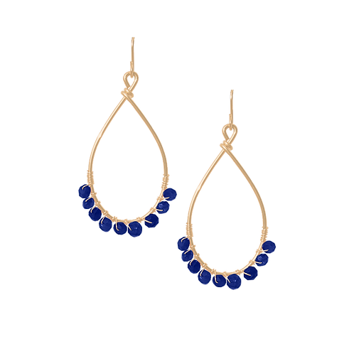 TEMPEST - Lapis/Gold Filled Earrings