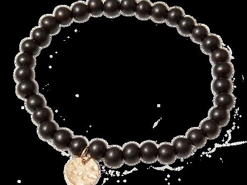 GALE - Black Ebony Wood w/ Gold Vermeil Bracelet