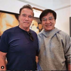 Legendary actors Arnold Schwarzenegger