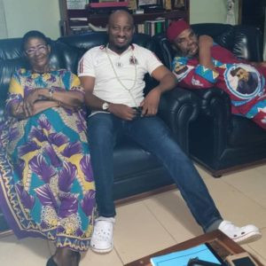 Pete Edochie and his Wife relax