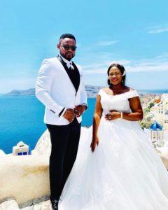 Man takes his wife to Santorini