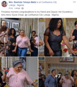 Yahaya Bello's Wife Throws Mini