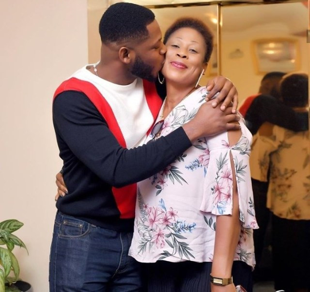BBNaija star, Frodd shows off his mum and showers her with love on her 50th birthday