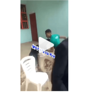 Two students seen fighting over