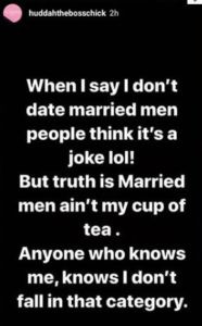 I don't date married men