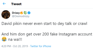 It's not up to 48-hours after Davido welcomed his handsome son 'David Ifeanyi Adeleke Jnr' in London, and the kid already has over 200 fake Instagram accounts.