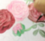 Custom invitations watercolor painting -