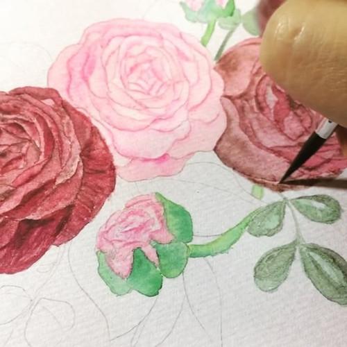 Custom design invitations watercolor set