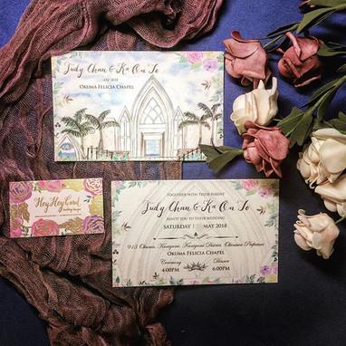 HeyHey Custom design invitation set