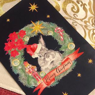 Bunny Xmas Card