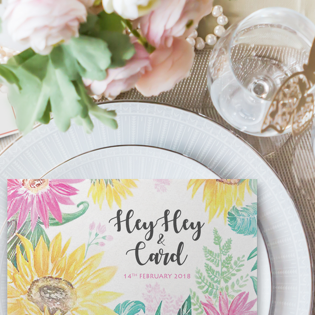 HeyHey - Hand pained watercolor flowers set