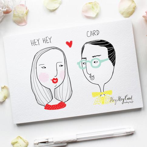 Digital couple illustration