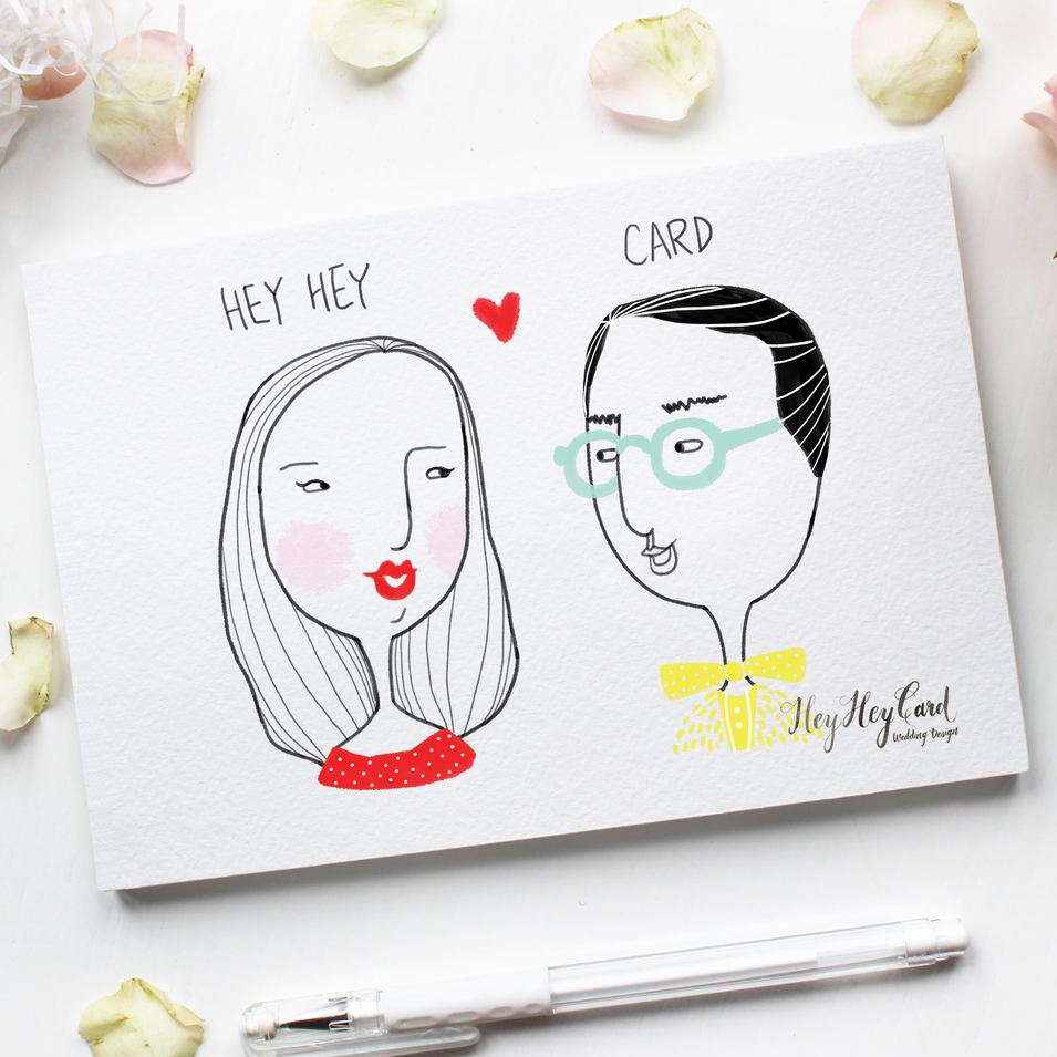 Digital couple illustration