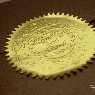 Gold bland seal embossing foil labels