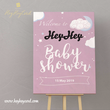 Pink style baby welcome board