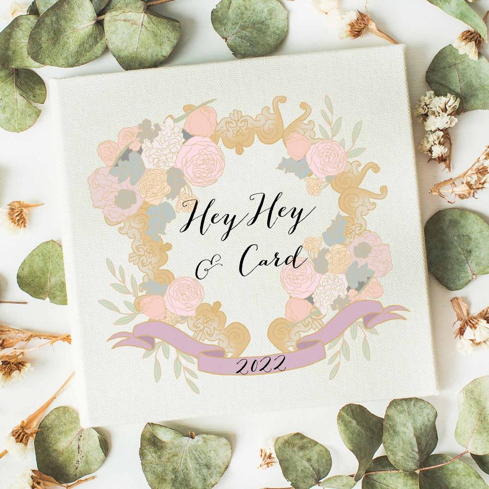 Digital illustration wedding logo