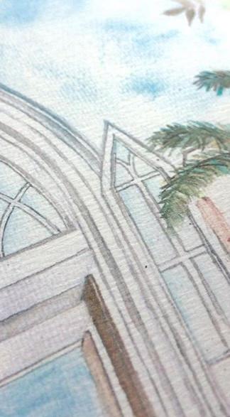 #happysunday 所有手繪水彩款式配以最近似水彩紙質的卡去印刷出來效果是