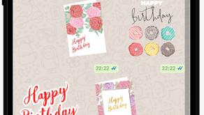 FREE HeyHey Birthday Stickers Pack 喜喜卡生日貼圖包