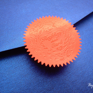 Red bland seal embossing foil labels