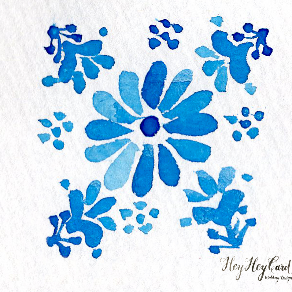 Custom watercolor pattern