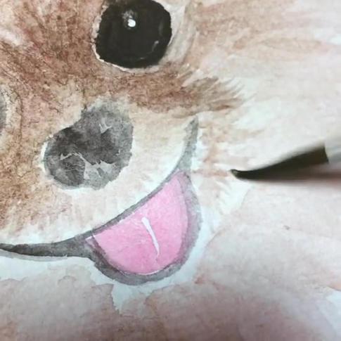 watercolor pet painting