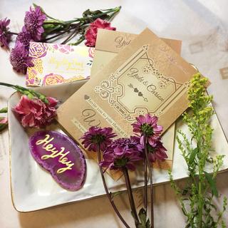 Gold color invitation set