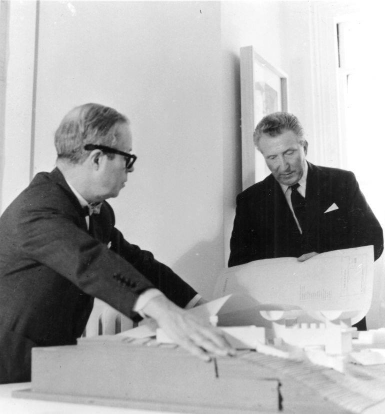 Joseph Luis Sert et Aimé Maeght