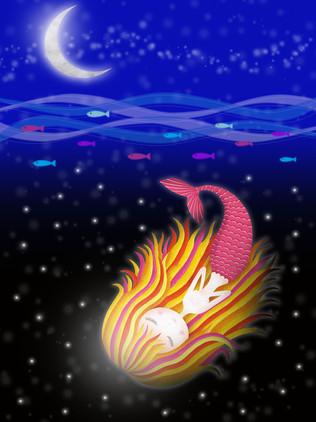 星の海を泳ぐ人魚