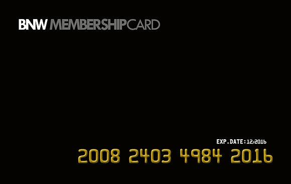 BNW Membership Card