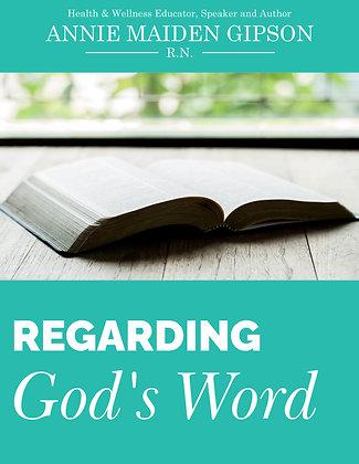 Regarding God's Word