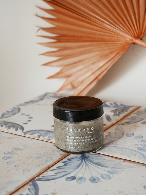 DETOX BODY SCRUB - TEA TREE + GRAPEFRUIT