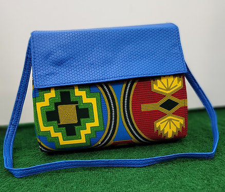 Classic African Print Handbag with Wallet