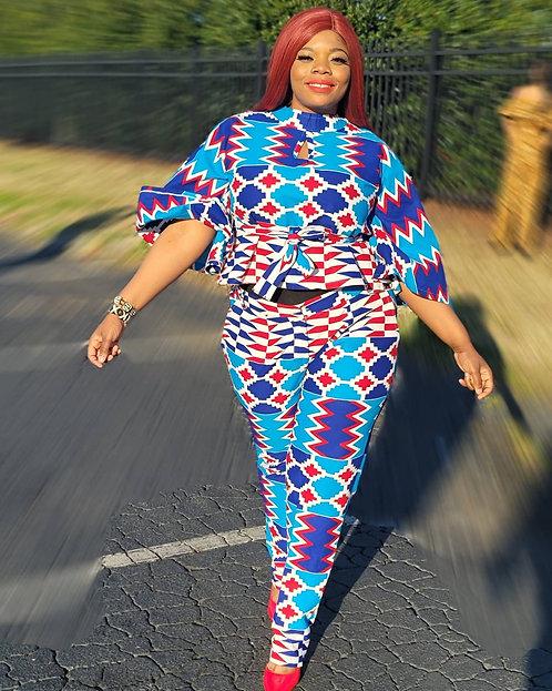 African Wax Print Women's Set
