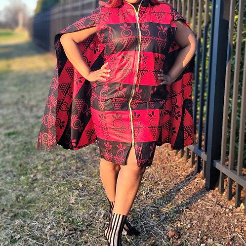 African Wax Print Women's Dress