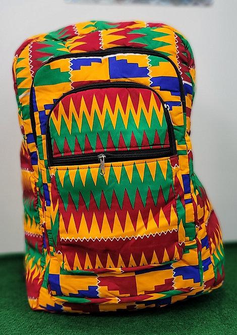 African Kente Print Backpack.