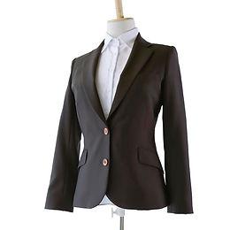 Ladies' スーツジャケット ブラック ~戦う私のジャケット~